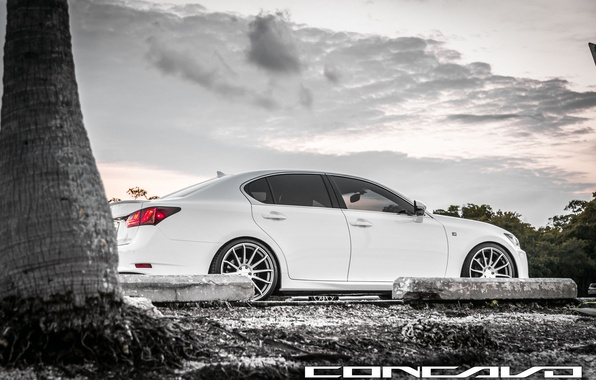 Картинка машина, авто, небо, Lexus, auto, F-Sport, Wheels, Concavo, GS350