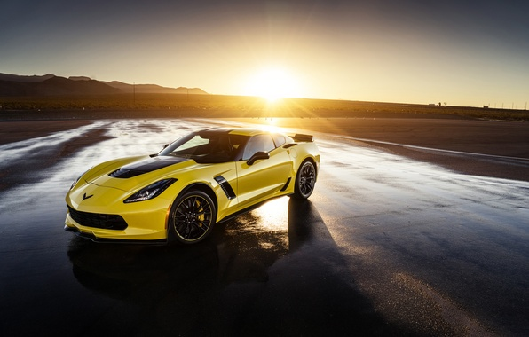 Картинка Z06, Corvette, Chevrolet, Front, Yellow, Supercar