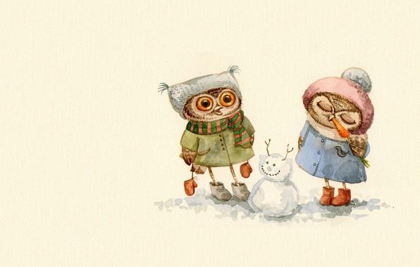 Сова Зимой Картинки На Рабочий Стол