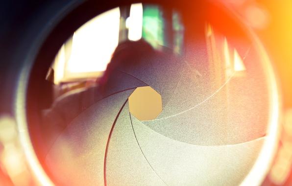 Картинка отражение, объектив, линза