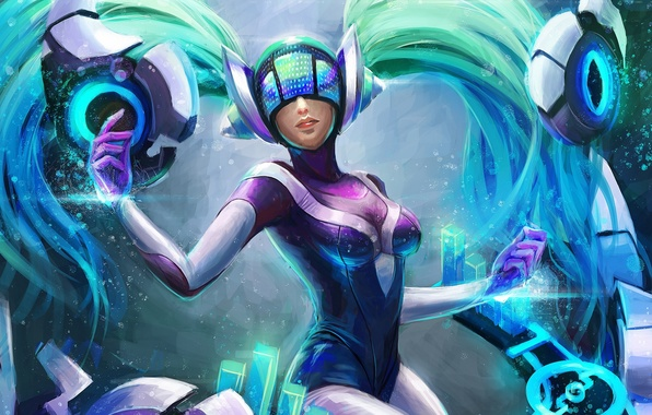 Картинка League of Legends, fan art, sona, Maven of the Strings, dj sona