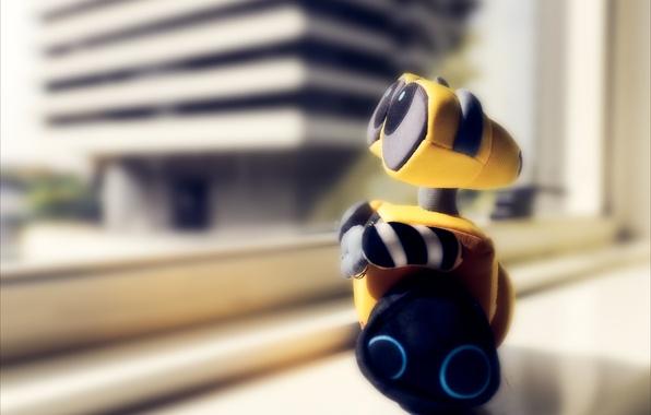 Картинка игрушка, робот, wall-e, валли, мягкая, сувенир
