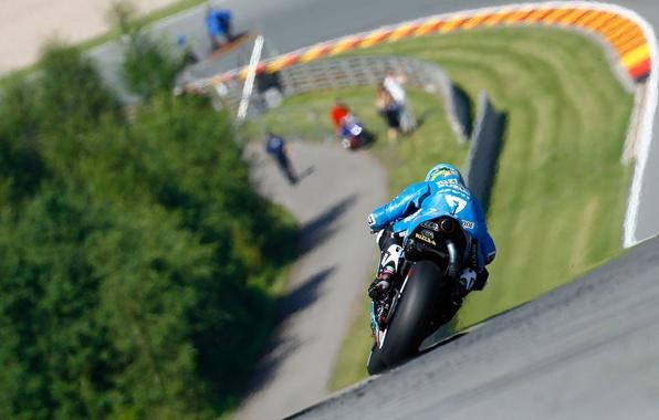 Картинка Дорога, Спорт, Скорость, Поворот, Мотоцикл, Гонщик, MotoGP