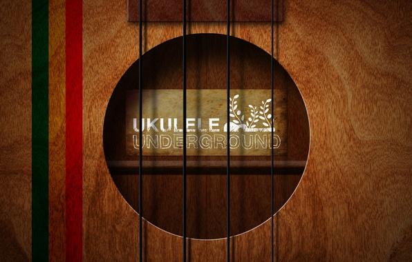 Картинка стиль, музыка, фон, надпись, обои, гитара, струны, арт, underground, ukulele