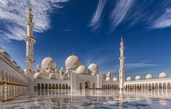 Картинка Abu Dhabi, ОАЭ, Мечеть шейха Зайда, Абу-Даби, UAE, Sheikh Zayed Grand Mosque