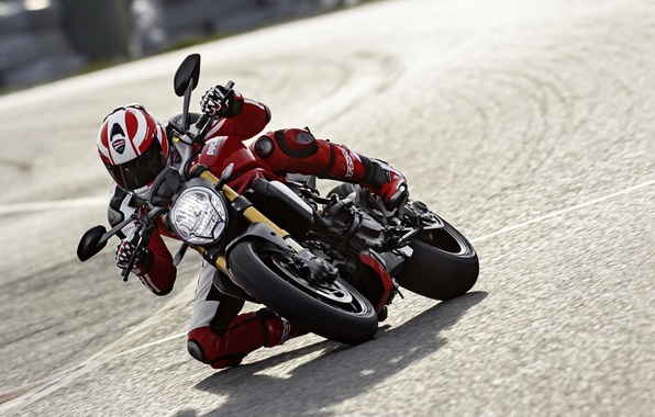 Картинка red, Ducati, Monster, moto, road, bike, Legend, speed, classic, ride
