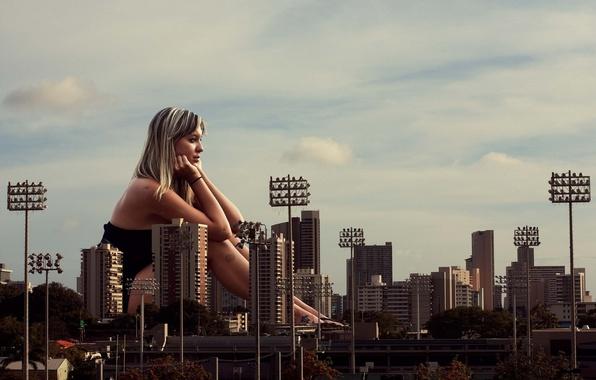 Картинка девушка, город, ситуация