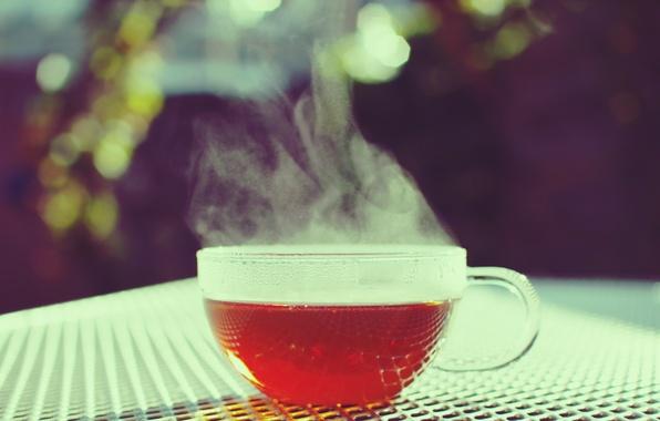 Картинка цвета, фото, стол, фон, обои, чай, горячий, обработка, чашка