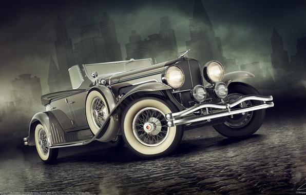 Картинка машина, авто, ретро, классика, Duesenberg, Alexandr Novitskiy