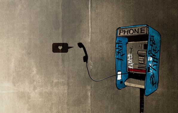 Картинка трубка, текстура, телефон