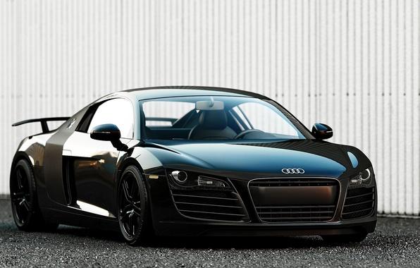 Картинка Audi, ауди, черная, суперкар, Black, 2014