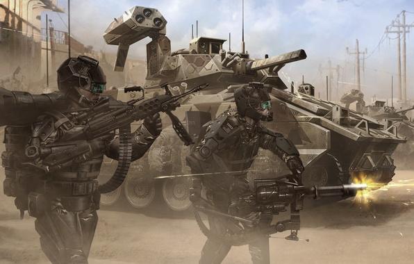 Картинка оружие, война, армия, танк, костюмы