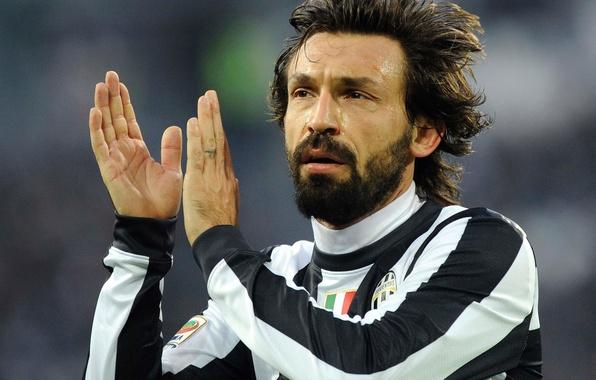 Картинка white, black, Andrea Pirlo, Juventus F. C
