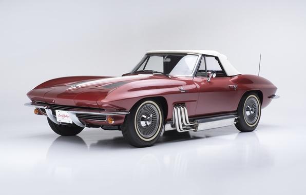 Картинка Corvette, Chevrolet, шевроле, Sting Ray, корвет, Convertible, 1963, Replica, Show Car