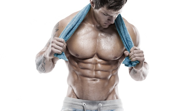 Картинка muscles, workout, towel, arms, abs