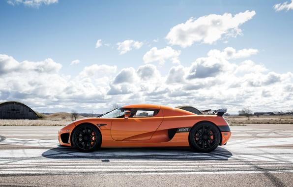 Картинка supercar, orange, кёнигсег, Koenigsegg CCXR
