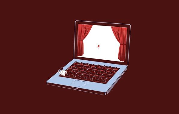 Картинка люди, сцена, apple, театр, ноутбук, помидор, notebook, people, macbook, screen, scene, angry, tomato, pro, Wired, …