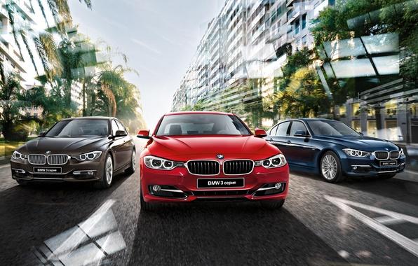 Картинка бмв, BMW, седан, 3 series, F30, Sedan, 2015