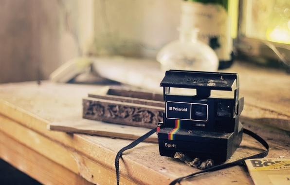 Картинка фон, камера, Polaroid