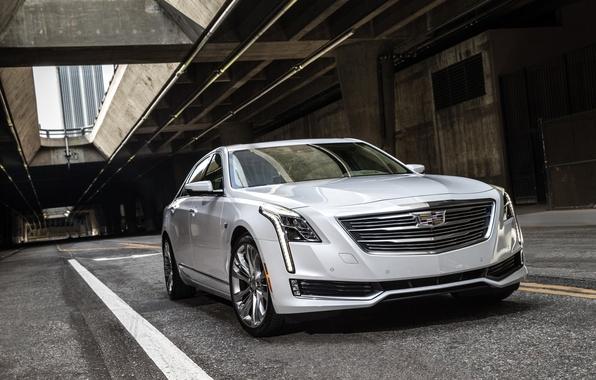 Картинка белый, Cadillac, седан, кадиллак, CT6