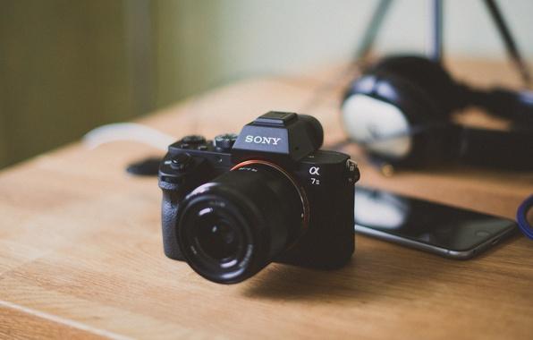 Картинка камера, объектив, Sony, боке, Iphone, a7II