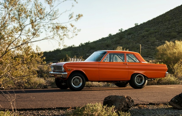 Картинка Ford, Falcon, 1964, Square Body Falcon, AFX, Drag Car