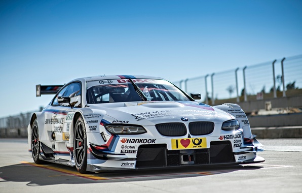 Картинка BMW, Car, Race, Front, Day, DTM, Track