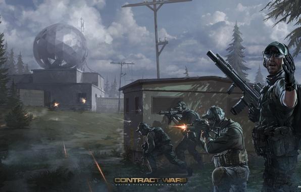 Картинка арт, солдаты, спецназ, contract wars, BEAR, USEC