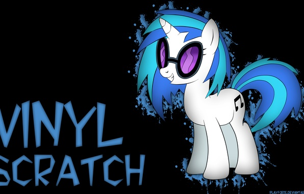 Обои vinyl scratch, my little pony, friendship is magic картинки на рабочий