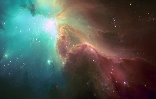 Картинка космос, звезды, свет, туманность, арт, HellsEscapeArtist, TylerCreatesWorlds