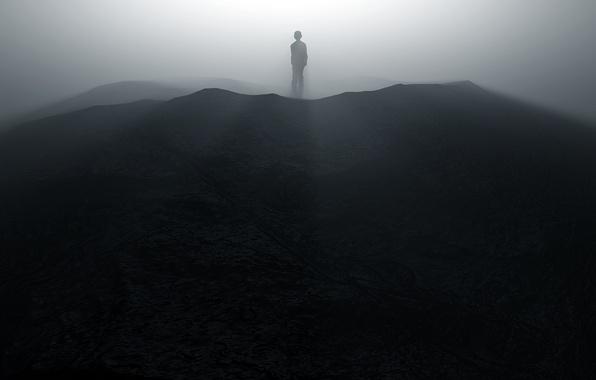 Картинка человек, тень, силуэт