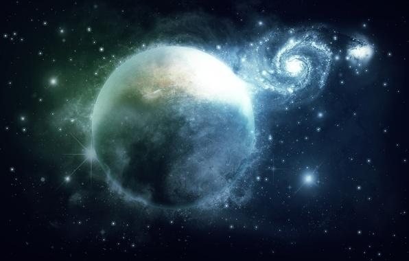 Картинка космос, планета, арт, галактика