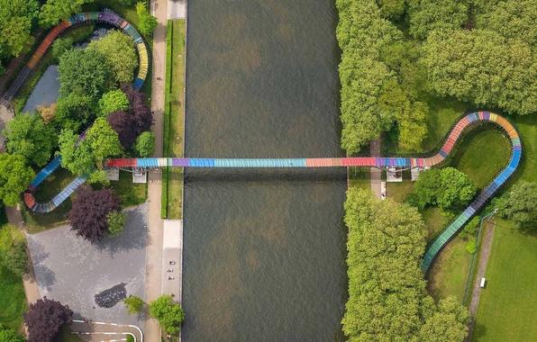 Картинка мост, Германия, канал, Северный Рейн-Вестфалия, Рейн-Херне, Оберхаузен