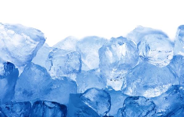 Фото обои лед, кубики, ice, blue, cubes