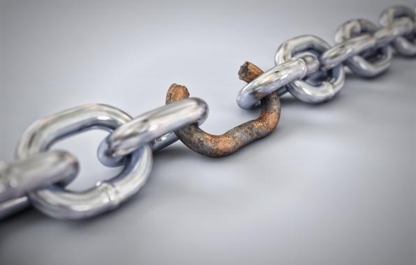 Картинка rust, chain, weak link