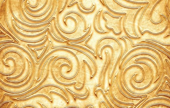 Картинка узор, текстура, texture, pattern, веточки, twigs, золотистый цвет, Golden color