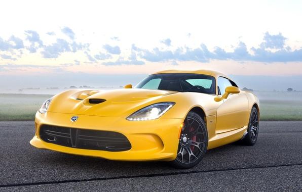 Картинка Dodge, Viper, yellow, Srt-10