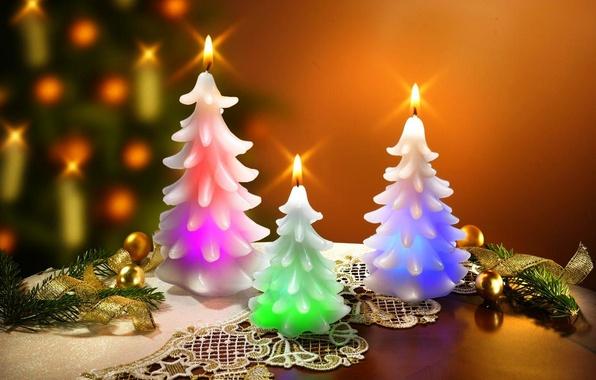 Картинка ленты, праздник, шары, Новый Год, Рождество, Happy New Year, balls, Merry Christmas, holiday, decoration, candle, …