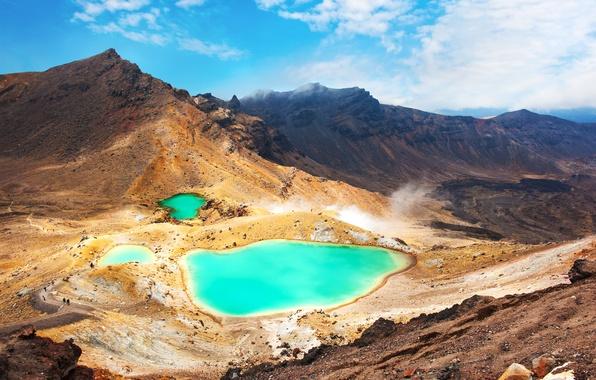 Картинка пейзаж, горы, озеро, landscape, mountain, lake, emerald