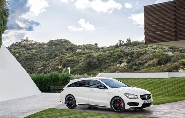 Картинка Mercedes, мерседес, AMG, амг, Shooting Brake, CLA 45, 2015, X117