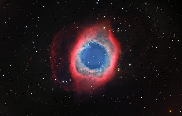 Картинка космос, туманность, пространство, звёзды, Улитка, созвездие, NGC 7293, мироздание