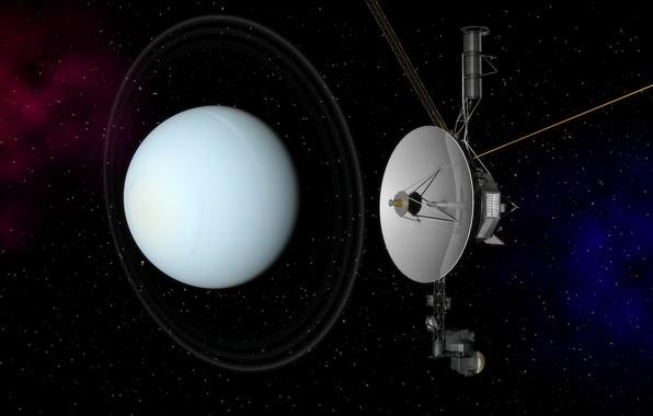 Картинка Уран, НАСА, космический аппарат, Вояджер-2