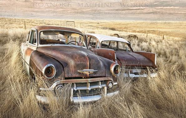 Картинка поле, машины, фон