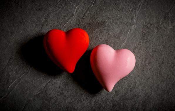 Картинка макро, сердце, пара, сердечки