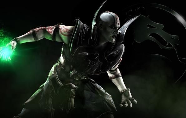 Картинка знак, магия, дракон, дым, тату, боец, Warner Bros. Interactive Entertainment, NetherRealm Studios, Mortal Kombat X, …