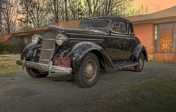 Картинка ретро, классика, 1935, Dodge Coupe