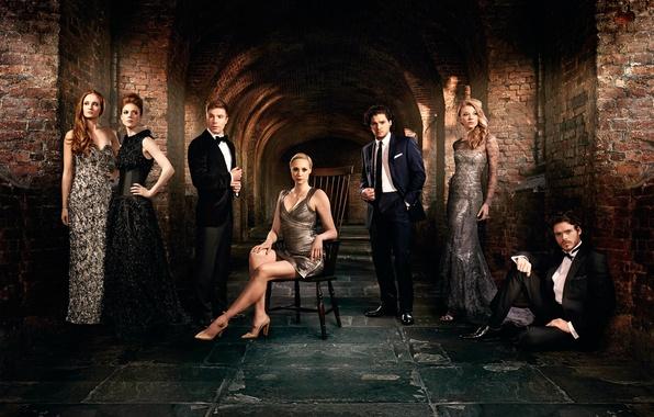 Картинка актёры, сериал, актрисы, Game of Thrones, Игра престолов, Sophie Turner, Kit Harington, Rose Leslie, Natalie ...