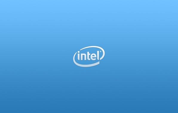 Картинка лого, logo, Intel, blue, интел