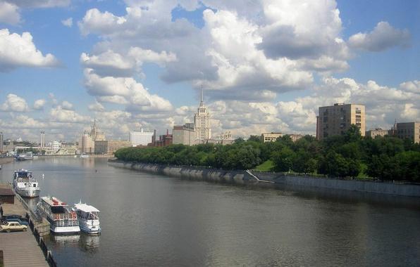 Картинка Река, Москва, Высотки