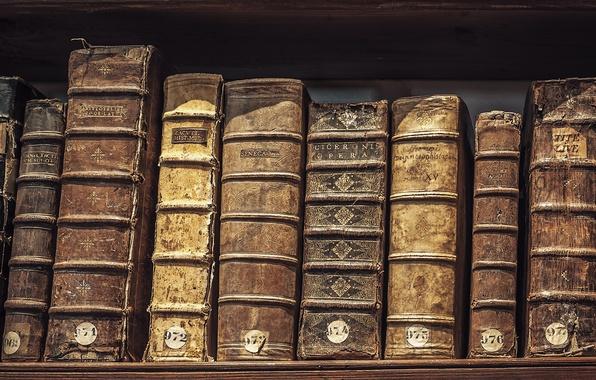 Картинка old, books, library, hardcover